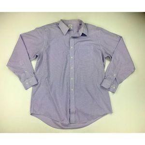Brooks Brothers 346 Mens 16 1/2 - 4/5 Purple Shirt